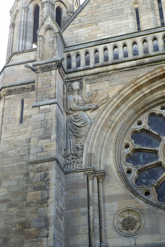 North west front, detail of left hand angel