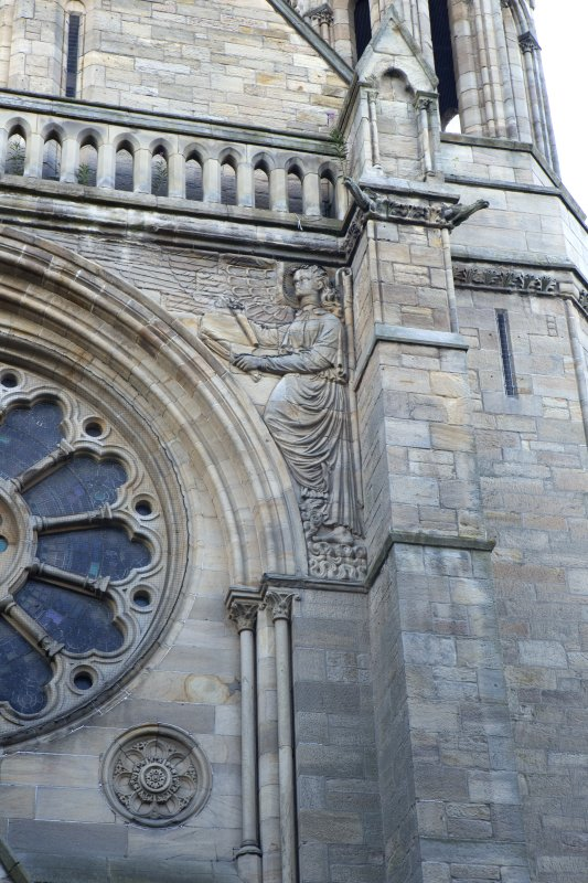 North west front, detail of right hand angel