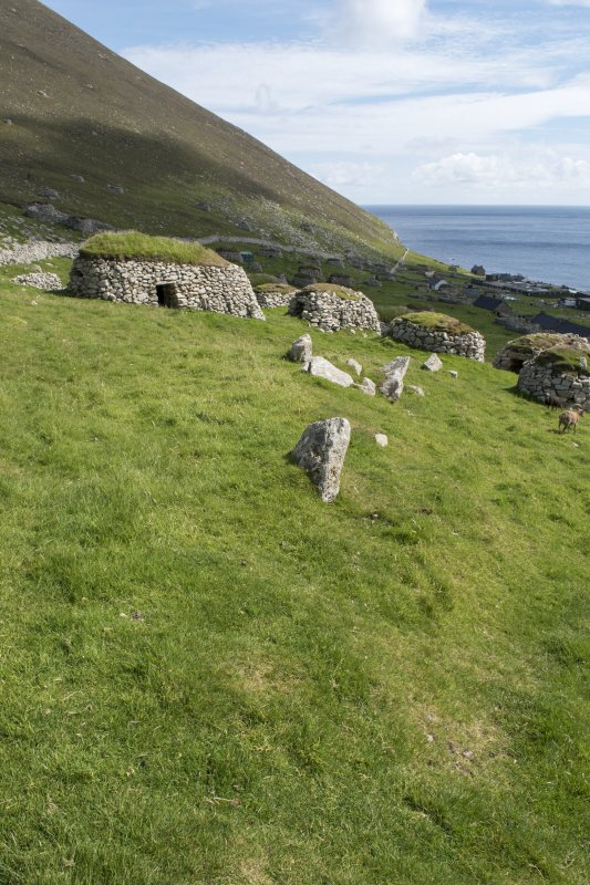 A robbed out portion of old head dyke and later cleitean