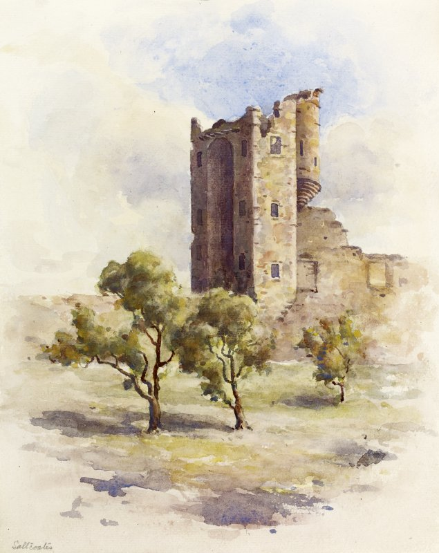 View of Saltcoats Castle, Gullane.