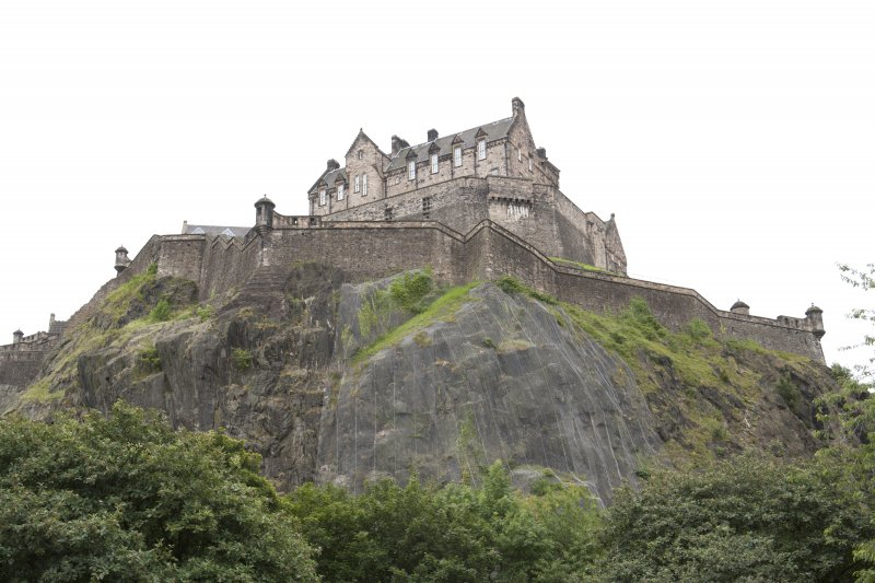 General view of Edinburgh Castle , taken from the Princes Street Gardens Fountain looking south.