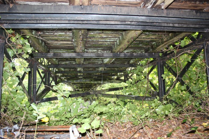 View of underside of bridge decking