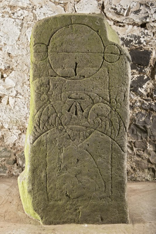 Pictish symbol stone, view of front face