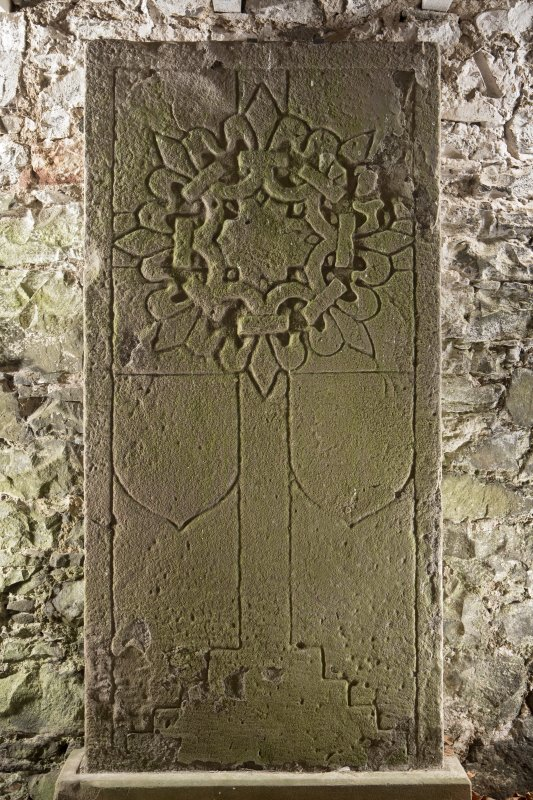 Medieval cross slab (including scale)