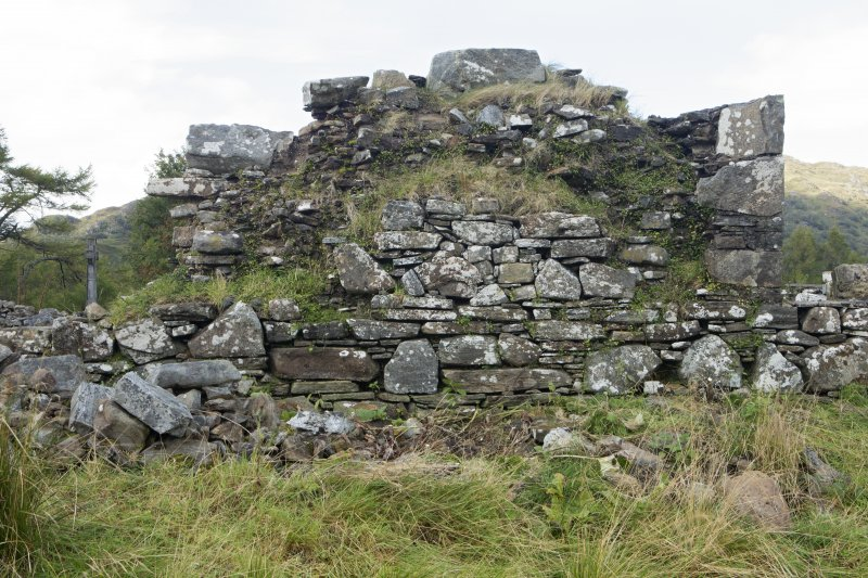 St. Finnan's Chapel, outside of south wall, view from south