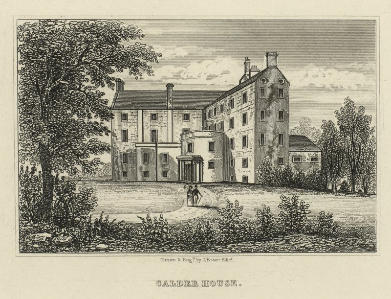 Opposite page 44 engraving of Calder House. Insc.:'Calder House.'