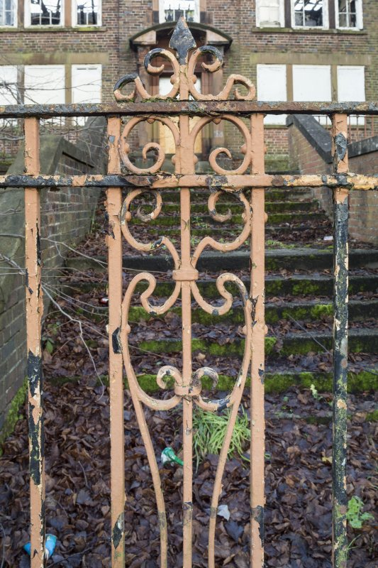 Detail of iron railings.