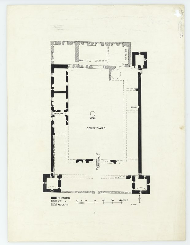 Publication drawing; phased plan of the Earl's Palace