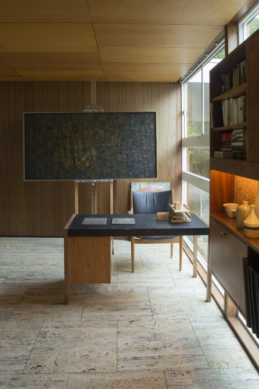 Library. View of Bernat Klein's desk.
