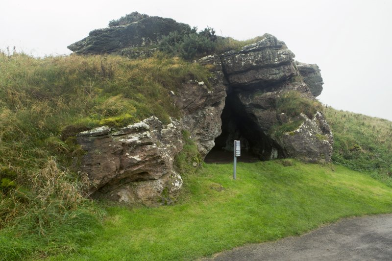 View of cave from north east.