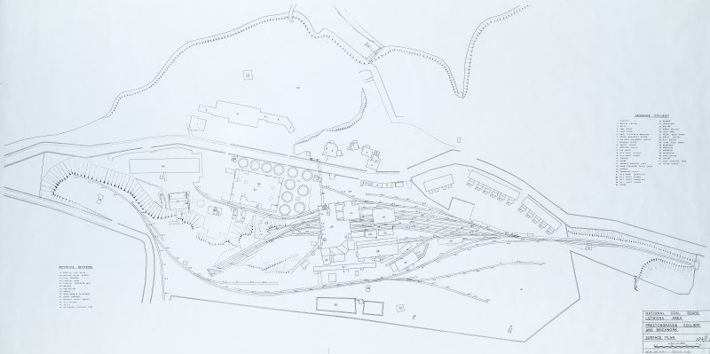 Plan, key. insc : 'Prestongrange colliery and Brickwork surface plan' d : '20th century' Acc No.