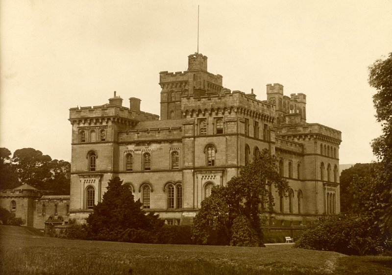 General view from SE of Lennox Castle