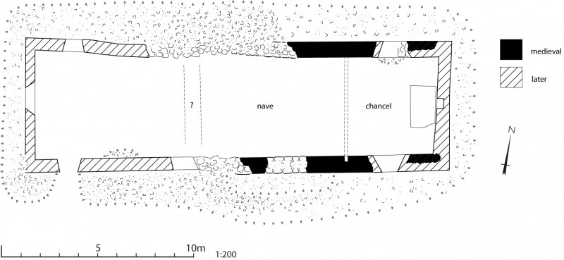 Publication illustration; plan of St Finnan's Church