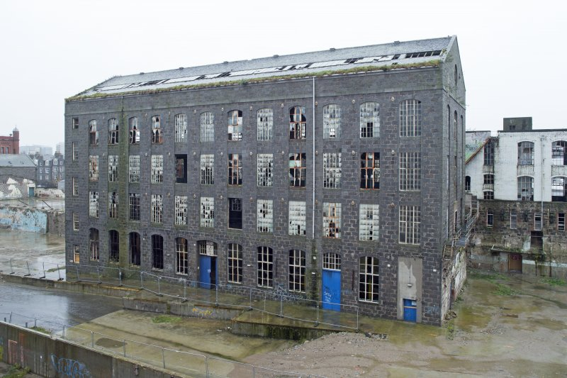 Elevated view of former Sewing Mill (1904) from the New Mill
