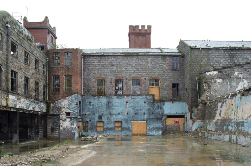 View from north of rear of Maberly Street frontage, former Hackling Building/ Store.