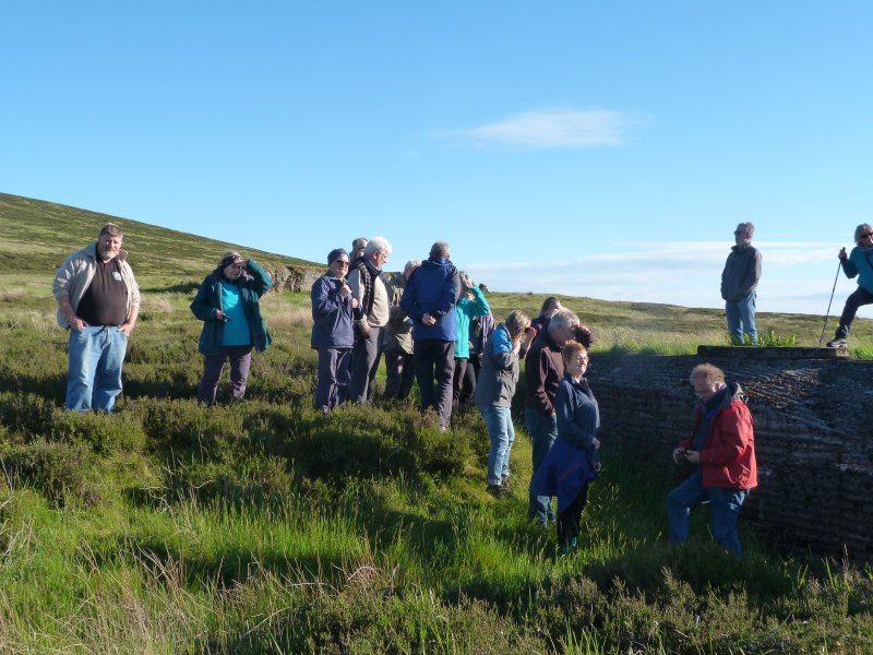 Visitors to the Atlantic Wall, Sheriff Muir on a site tour with Stirling Council archaeologist Murray Cook