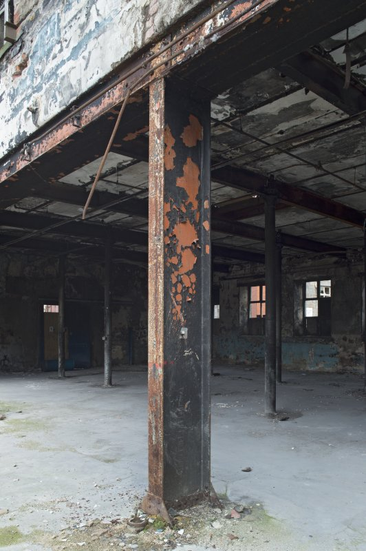 Hackling House (c.1860). Interior. Former access to South Weaving Sheds (now demolished).