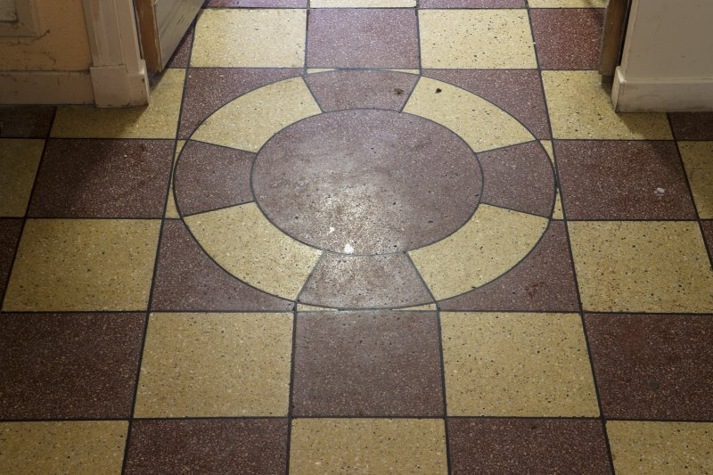 Detail of floor in entrance lobby.