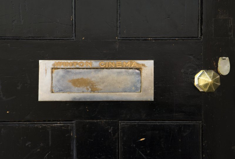 Detail of letterbox.