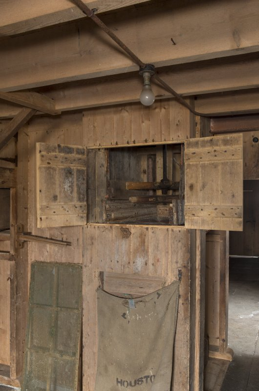 Ground floor. Cupboard with sack filling system.