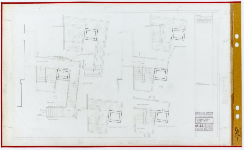 External stair and refuse chute plans