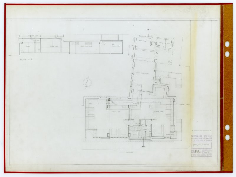 Sketch plan and section of bar