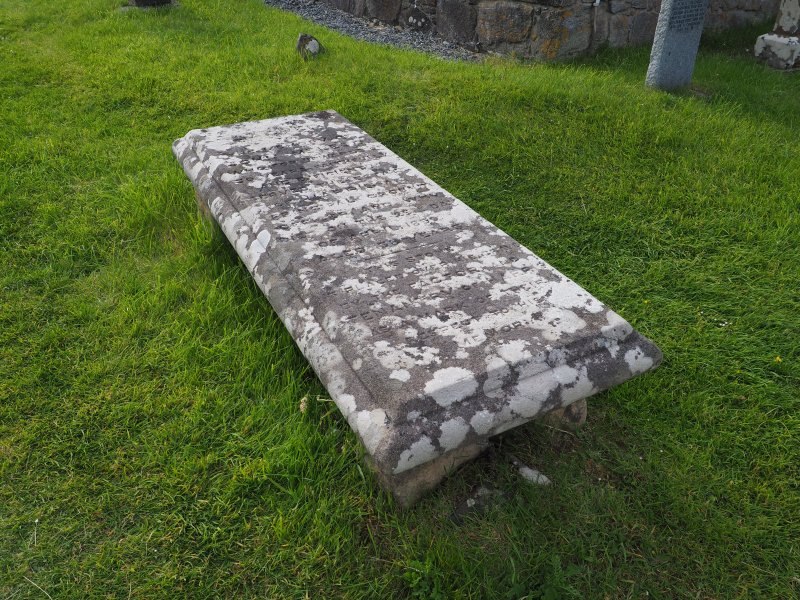 Rodel burial ground. Table slab to John Mcleod, principal ground officer on the estate of Harris, d. 1859.