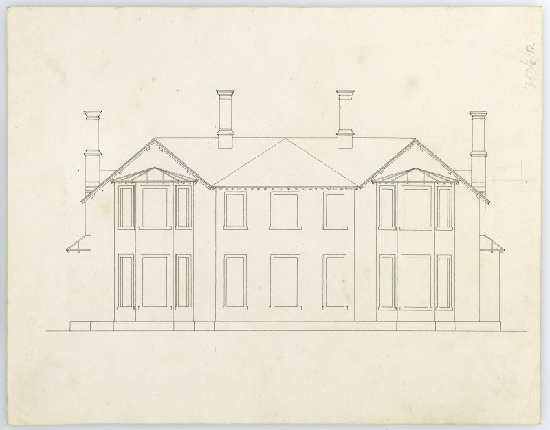 Drawing showing elevation, Ardarroch House.