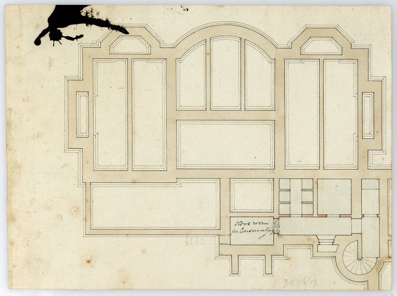 Drawing showing floor plan, Ardarroch House.