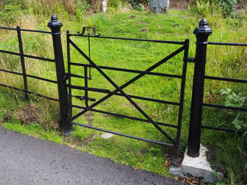 Detail of gate to modern enclosure.