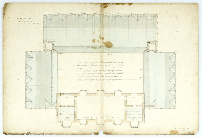 Plan of upper story. With measurements. (Wm.Burn) 131 George St.Edin.1831