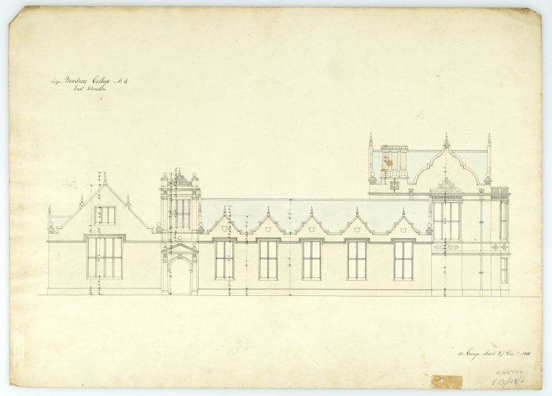 E.elevation. With measurements (Wm.Burn) 131 George St.Edin.1831