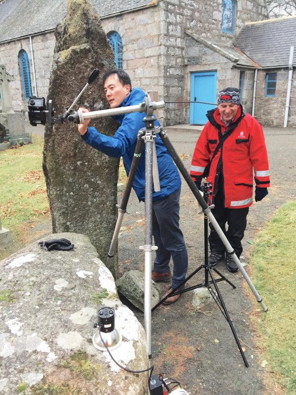 View of Mr Heo Daegyeom and Mr Adam Welfare recording a 3D video.