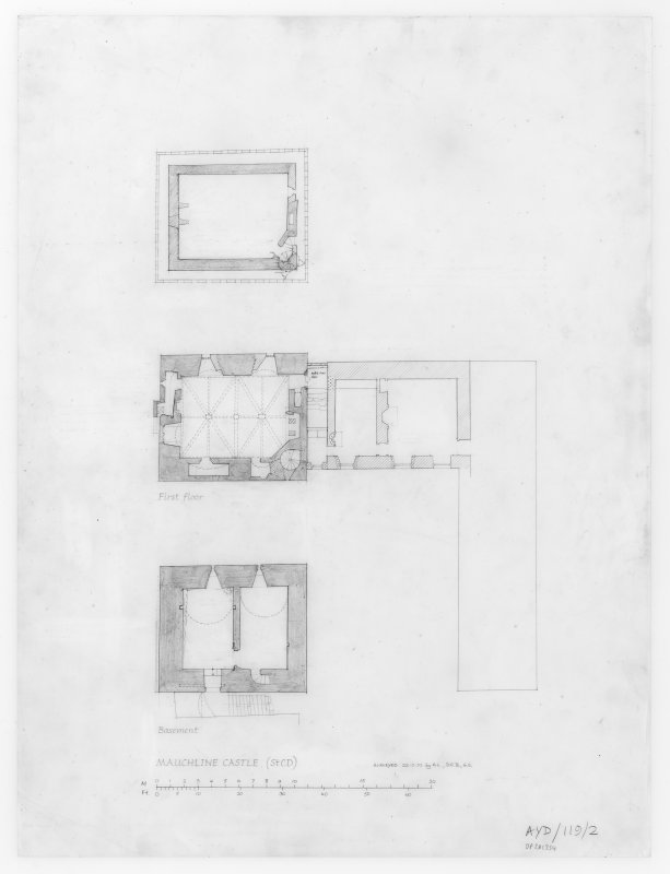 Drawing showing floor plans.
