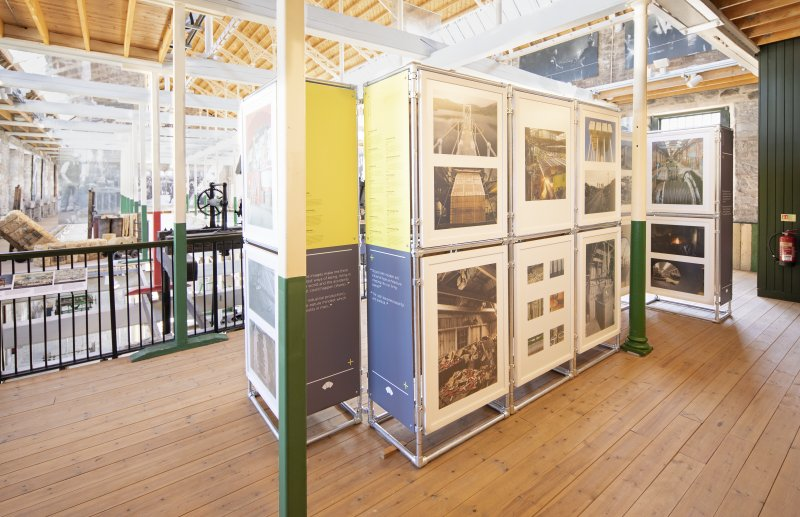 View of Historic Environment Scotland's Industry & Aesthetics Exhibition, from north west.