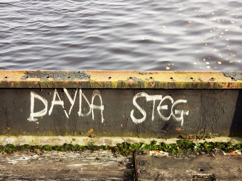 Graffiti at the SE end of graving dock number 3.