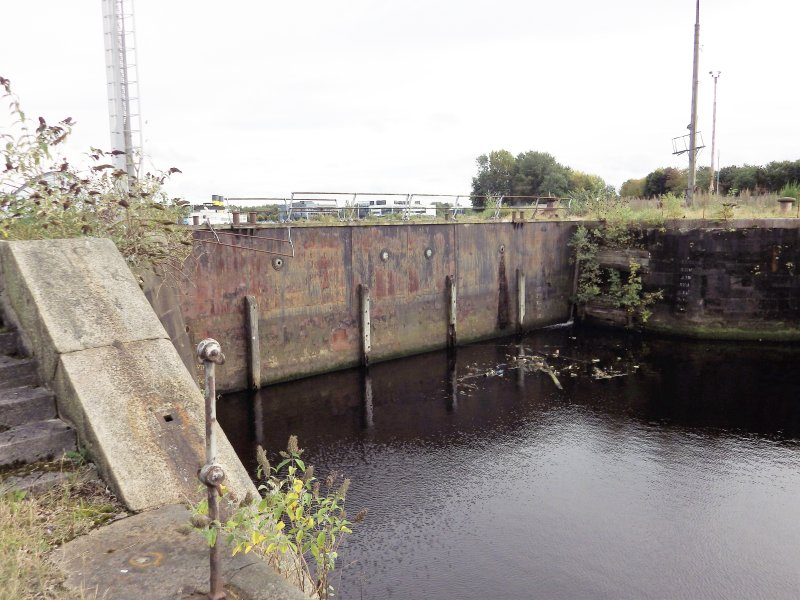 View of SE end of graving dock no. 1.