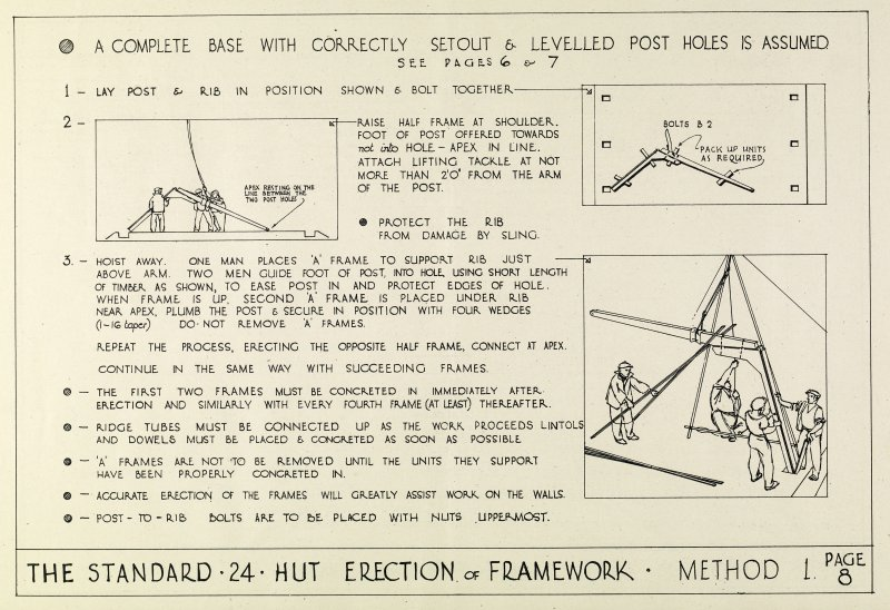 The Standard 24 Hut: Description and method of erection booklet. Page 8