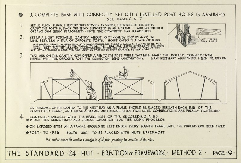 The Standard 24 Hut: Description and method of erection booklet. Page 9