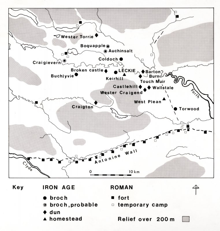Map from excavations at Leckie
