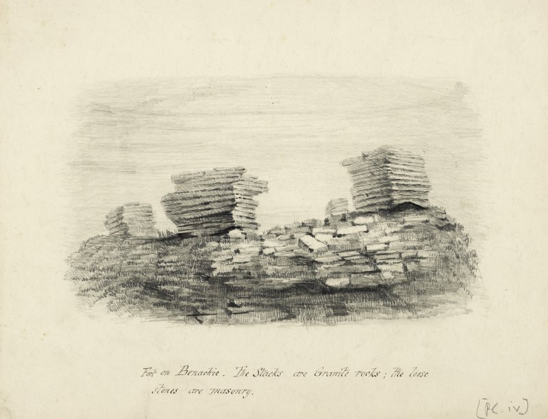Drawing of the Fort on Benachie.