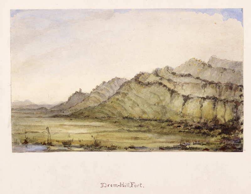 Watercolour view of fort at Drem.