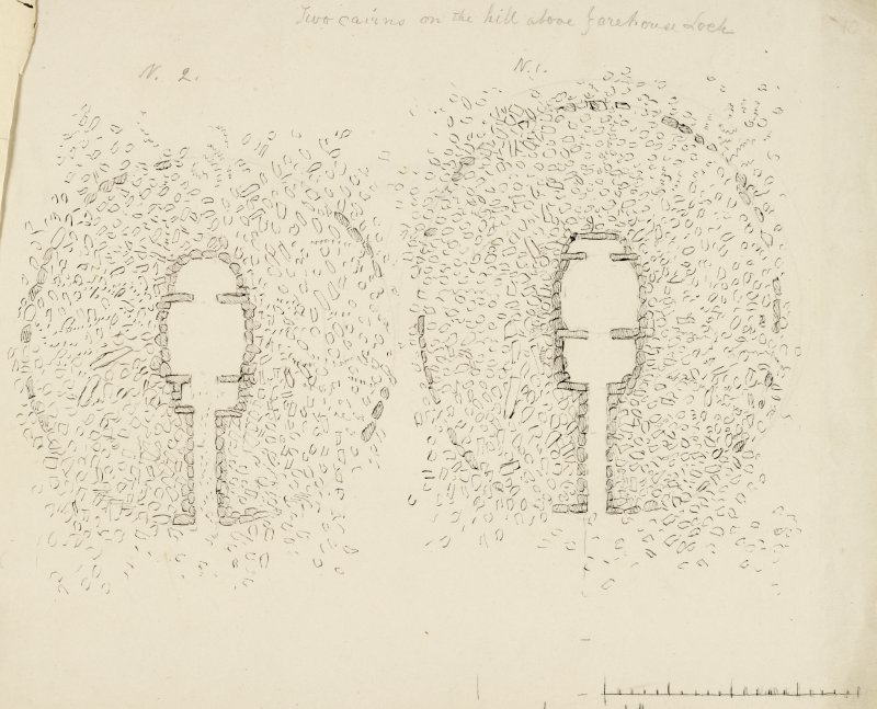 Plans of cairns at Yarrows.