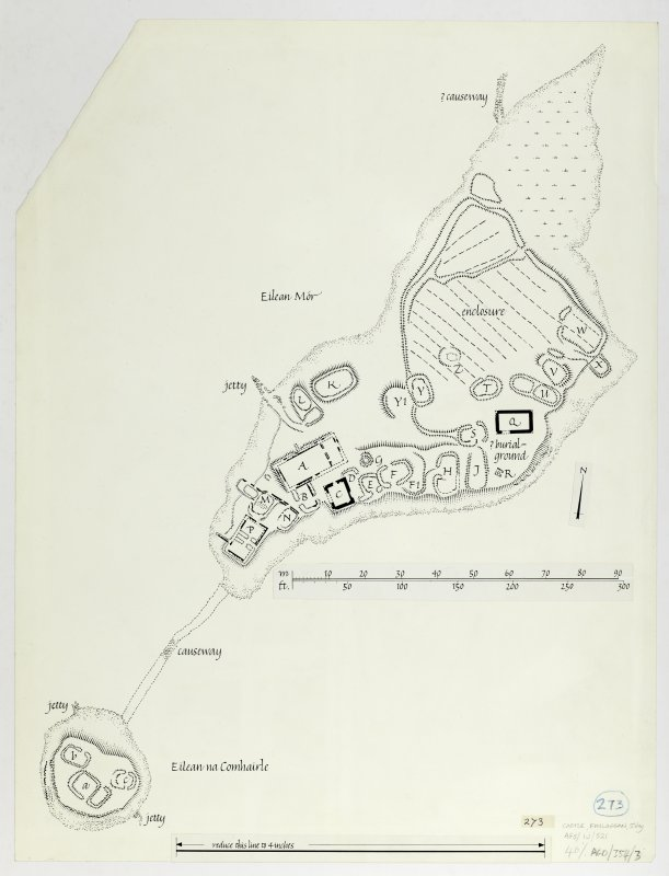 Publication drawing; Castle, Finlaggan, Islay, plan