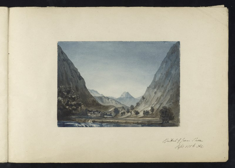 Watercolour, possibly by Clarke, inscribed 'Spittal of Glen Shee September 1856 A. C'.