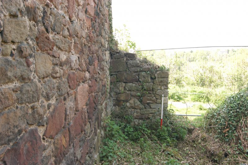 Building 3, wall stub and entrance into Building 4