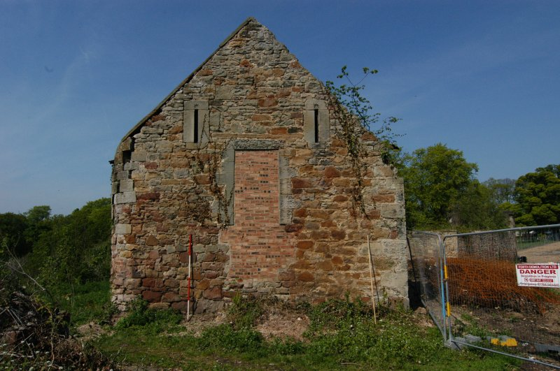 Building 3, south-west-facing gable, general view