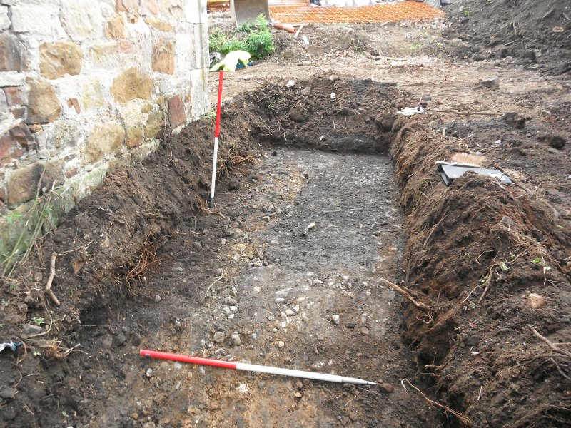 Trench 1 cobbled surface