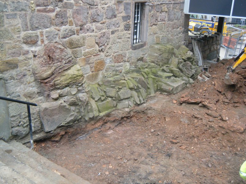 Ph1. Working shot showing made ground in relation of Merchiston Tower