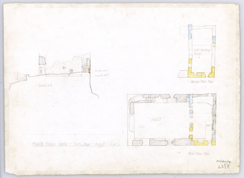 Fraoch Eilean Castle. First and second floor plans.